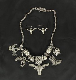 Set - Necklace/Earrings - Western Charms