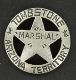 M & F Badge - Marshal