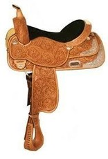 """Circle Y 16"""" WIDE High Horse Gladewater Show Saddle, Light Oil"""