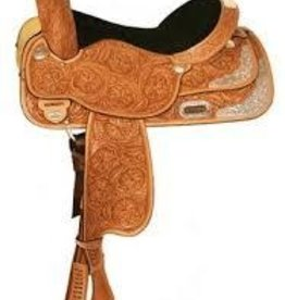 "Circle Y 16"" FQHB High Horse Gladewater Show Saddle, Light Oil"