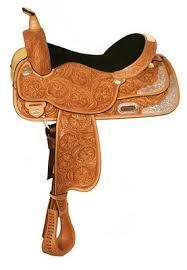 """Circle Y High Horse Gladewater Show Saddle, Lite Oil - 16""""/wide tree"""