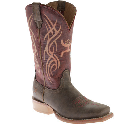 "Twisted X Women's Twisted X Hooey Western 11"" Boot Red Bomber"