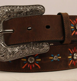 Nocona Women's Nocona Bold Colored Starburst Lacing Belt