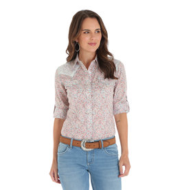 Wrangler Women's Wrangler 3/4 Sleeve Snap Shirt