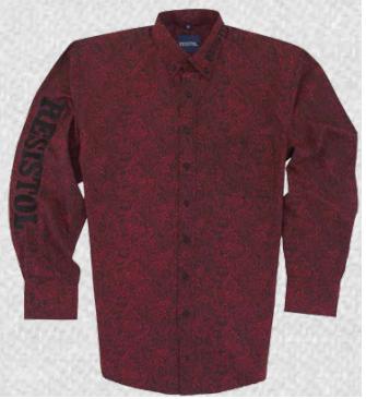 Resistol Men's Resistol Red Paisley Button Down Shirt