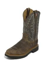 Justin Work Boots Men's Justin Scottsbluff Grey Steel Toe Boots