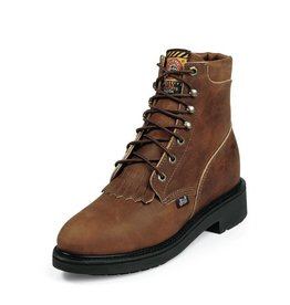 "Justin Work Boots Women's Justin 6"" Aged Bark Steel Toe Boots - Reg $179.95 now $129.95"