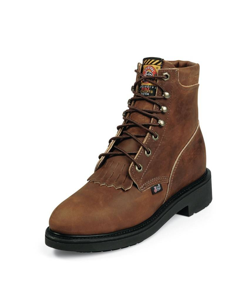 Justin Aged Bark Steel Toe Boots Reg
