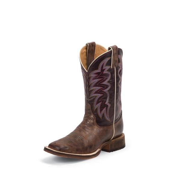 Justin Western Women's Justin Yancey Burgandy Bent Rail Boots