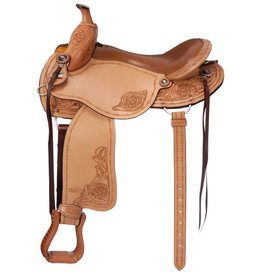 Silver Royal Silver Royal Premium Brisbane Trail Saddle - Lt. Oil - 17.5""