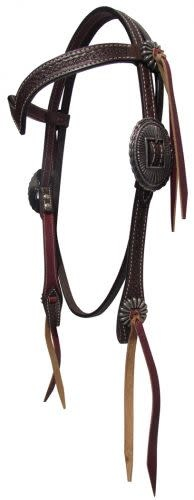 Showman V Headstall with Flower Tooling