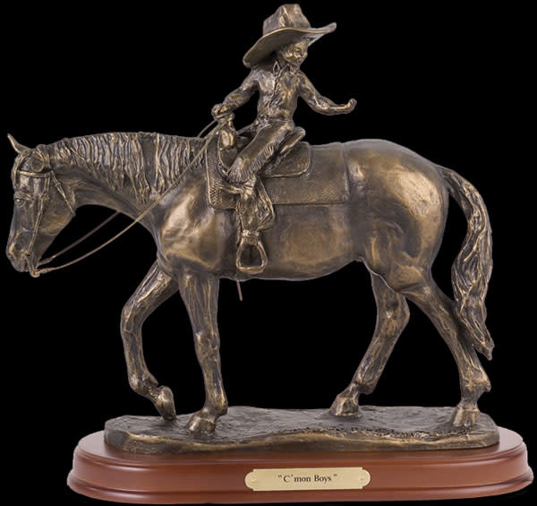 Montana Silversmiths Statue - C'mon Boys (Reg Price $90 now $79.95)