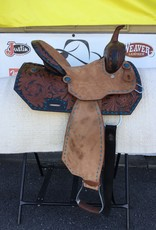 "Wild Star Two-Toned Barrel Saddle - 14""  FQHB/Wide"