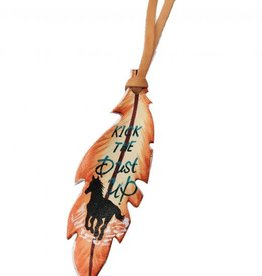 Showman Leather Tie on Feather - Kick the Dust Up