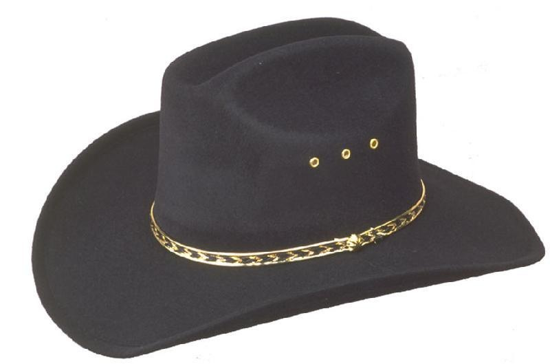 WEX WEX Faux Felt Cattlemans Hat (Band Colors May Vary)  Black Kids