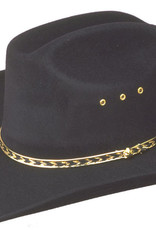 WEX WEX Faux Felt Cattlemans Hat (Band Colors May Vary) Black Small/Medium