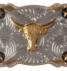 WEX Belt Buckle - Steer Head & Stars