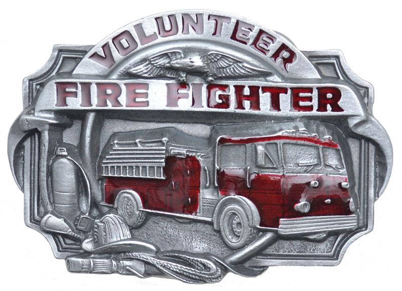 WEX Belt Buckle - Volunteer Fire Fighter