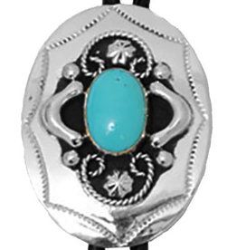 WEX Bolo Tie - German Silver & Turquoise