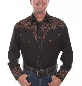 Scully Leather Men's Scully Tribal Embroidered Western Shirt