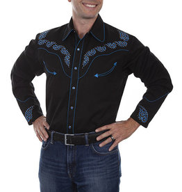Scully Leather Men's Scully Studs & Scroll Western Shirt