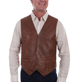 Scully Leather Men's Scully Vintage Lamb Leather Vest - Brown