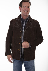 Scully Leather Men's Scully Pick Stitch Expresso Boar Suede Coat -