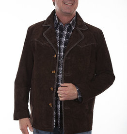 Scully Men's Scully Pick Stitch Expresso Boar Suede Coat -