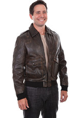 Scully Men's Scully Bomber Leather Jacket - Brown