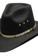 WEX Wex Faux Felt Pinch Front Hat Black 6 3/8