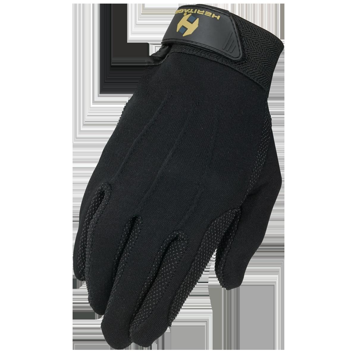 Heritage Heritage Cotton Grip Glove, Black