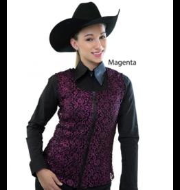 Royal Highness Women's Royal Highness Metalic Vest - Magenta Large