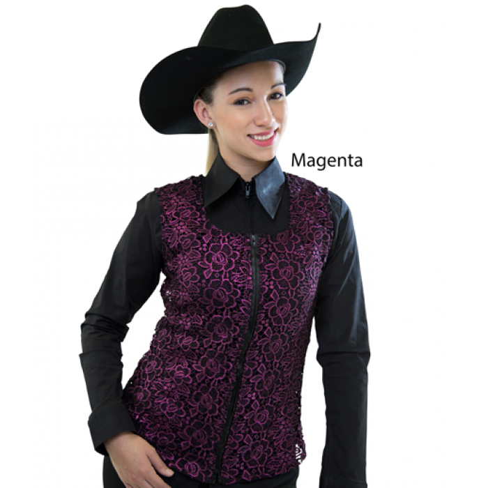 Royal Highness Women's Royal Highness Metalic Vest - Magenta Large