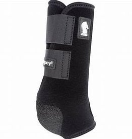 Classic Equine Legacy2 Protective Boots - Black, Reg, Hind