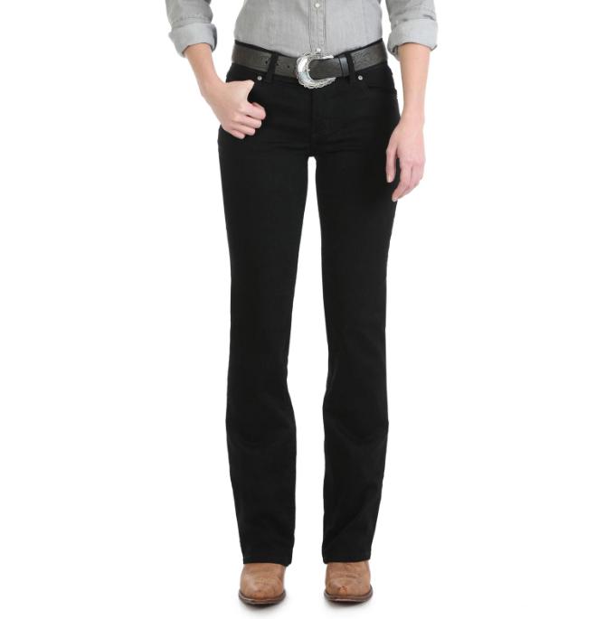 Wrangler Women's Wrangler Black Mid-Rise Boot Cut Jeans