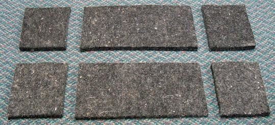 Diamond Wool Additional Wool Felt Shims for Diamond Wool Pads