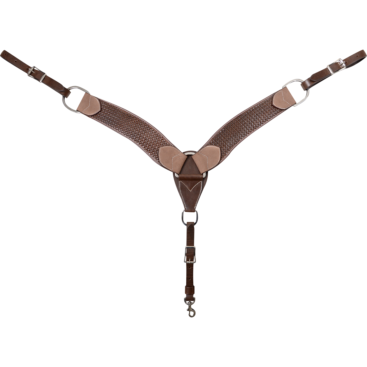 Cashel Cashel Basketweaver Breastcollar, Chocolate - 2-3/4""