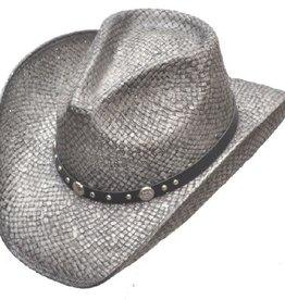 WEX Silver Pinch Front Straw Hat