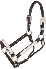 Tough-1 Raised Oval Show Halter - Horse Size with Lead