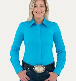 Noble Women's Noble Perfect Fit Western Show Shirt, Crystal Blue (Reg $99.95 now 30% OFF!)