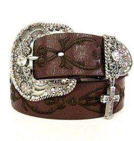 M & F Adult - Nocona Embroidered Cross Belt