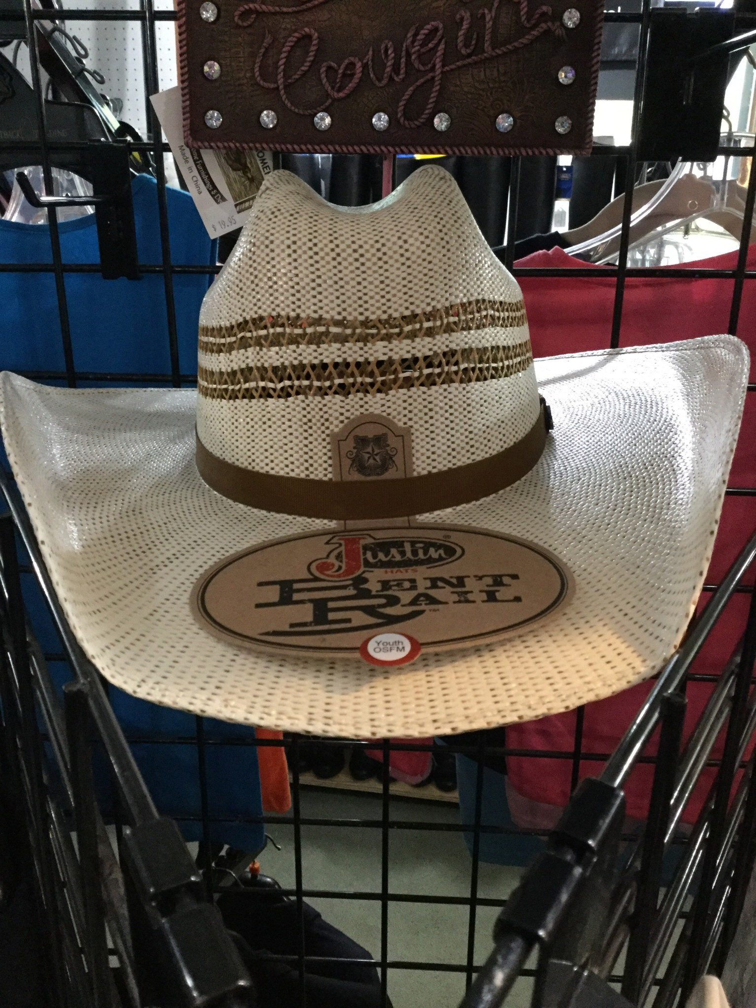 Justin Western Hats Children's Justin Barrel Jr. Straw Hat