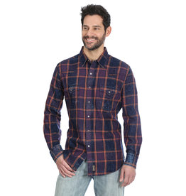 Wrangler Men's Wrangler Indigo Plaid Shirt