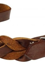 Showman Braided Leather Curb Strap