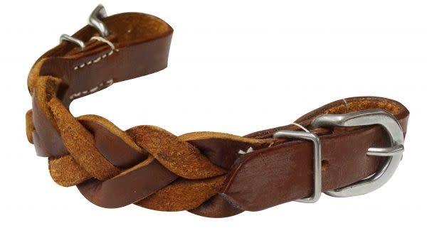 Showman Curb Strap - Braided Leather