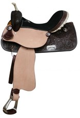 Double T Double T Barrel Saddle Silver Laced Rawhide Cantle - 15""