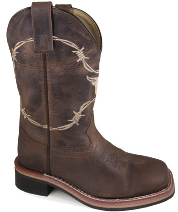 Smoky Mt Youth Smoky Logan Leather Cowboy Boot