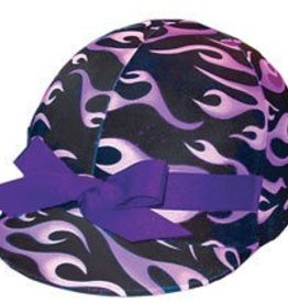 Helmet Cover Purple Flame Std