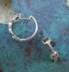 Baron Silver Earrings - Snaffle Bit Hoops