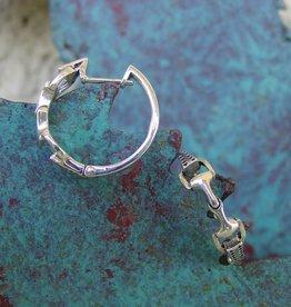 Baron Silver Earrings - Snaffle Bit Hoops